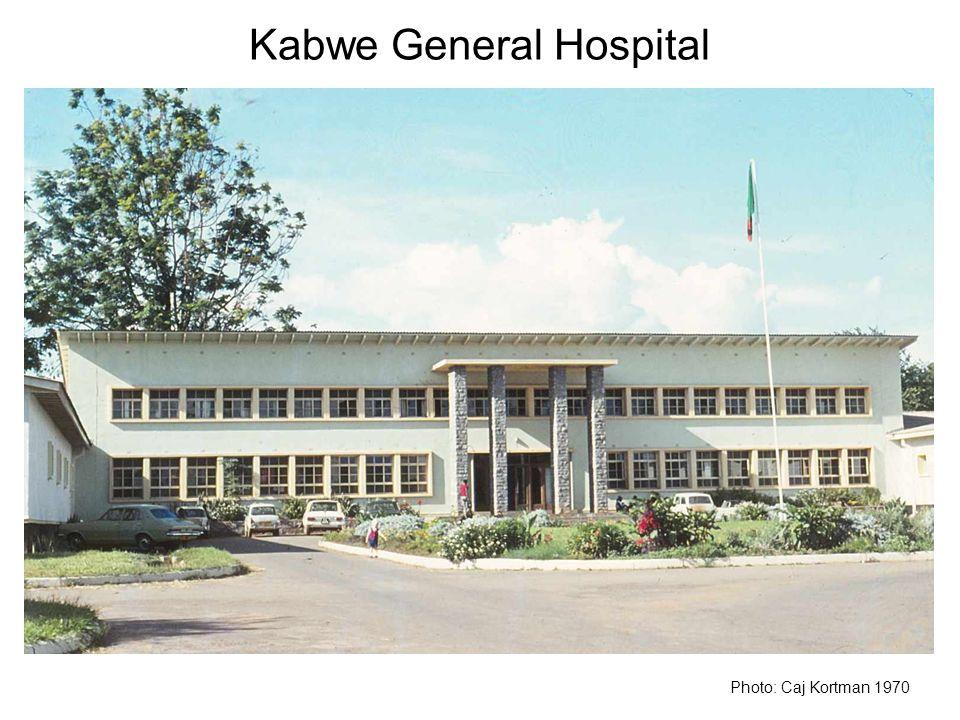 Kabwe General Hospital Photo: Caj Kortman 1970