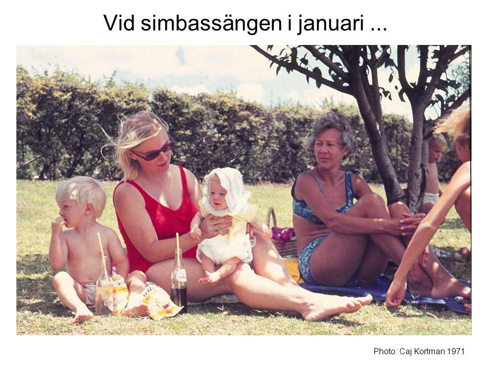 Vid simbassängen i januari... Photo: Caj Kortman 1971