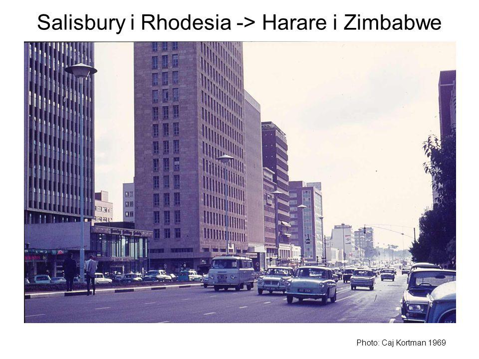 Salisbury i Rhodesia -> Harare i Zimbabwe Photo: Caj Kortman 1969