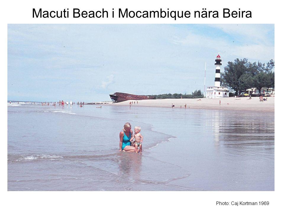 Macuti Beach i Mocambique nära Beira Photo: Caj Kortman 1969