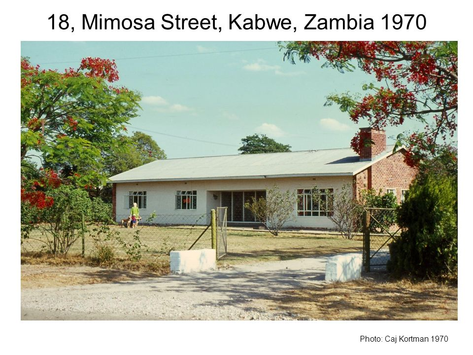 18, Mimosa Street, Kabwe, Zambia 1970 Photo: Caj Kortman 1970