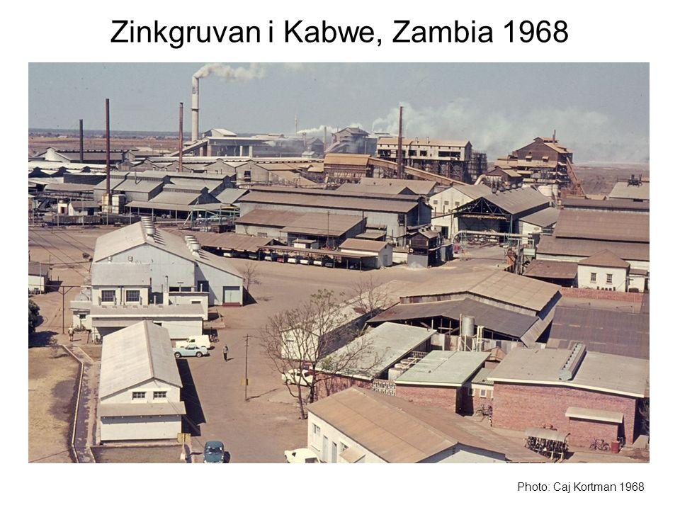 Zinkgruvan i Kabwe, Zambia 1968 Photo: Caj Kortman 1968