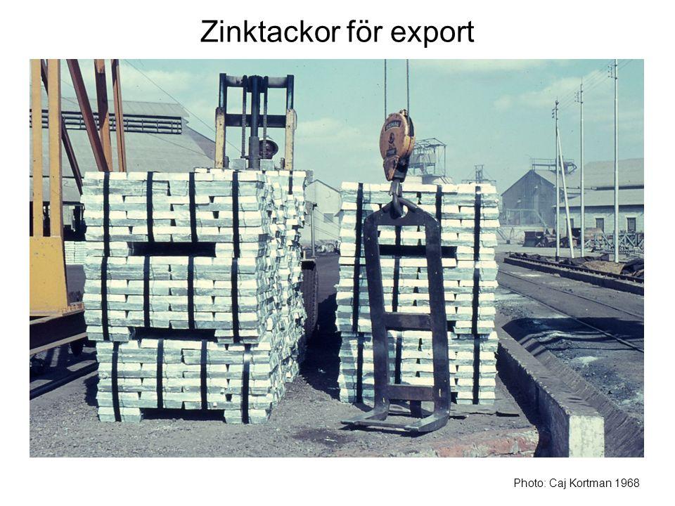 Zinktackor för export Photo: Caj Kortman 1968