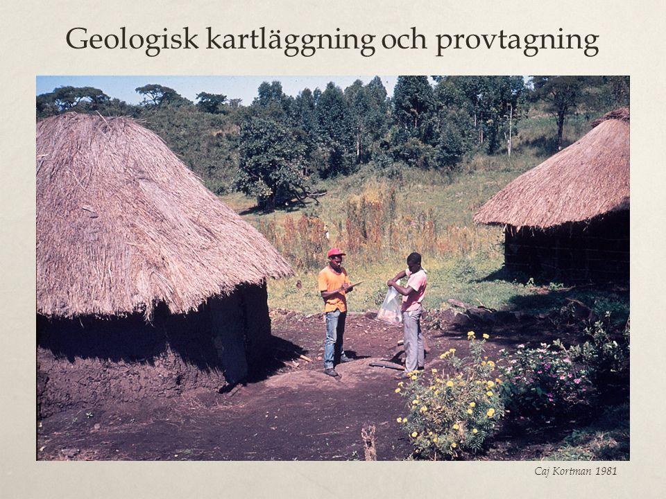 Geologisk kartläggning och provtagning Caj Kortman 1981