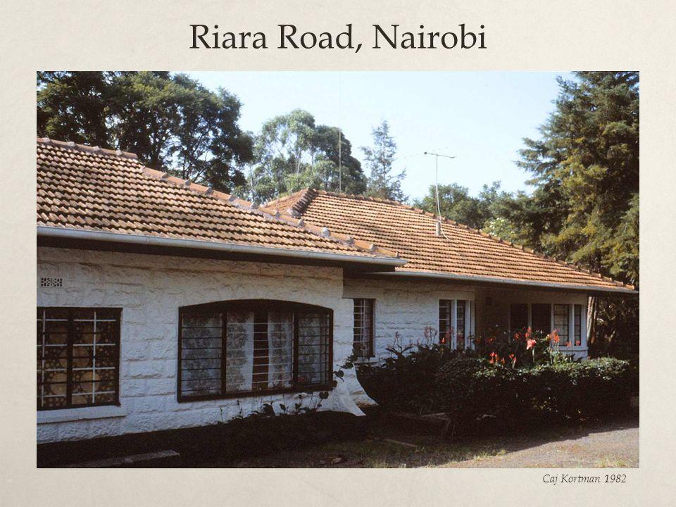 Riara Road, Nairobi Caj Kortman 1982