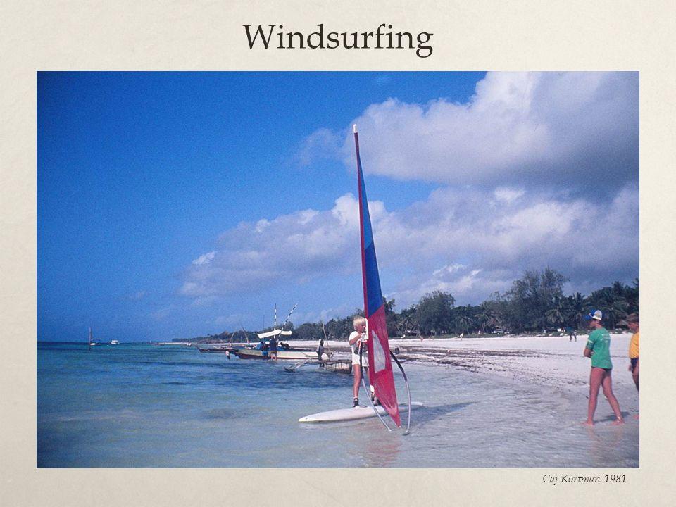Windsurfing Caj Kortman 1981
