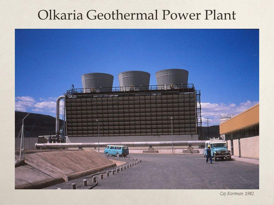 Olkaria Geothermal Power Plant Caj Kortman 1982