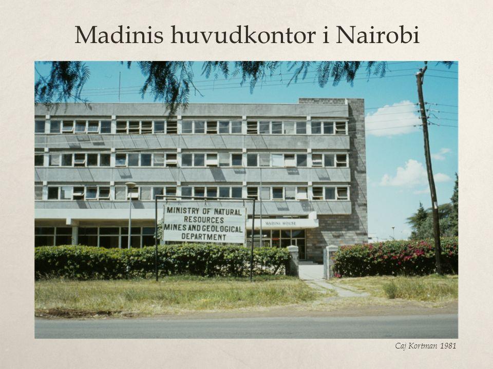 Madinis huvudkontor i Nairobi Caj Kortman 1981