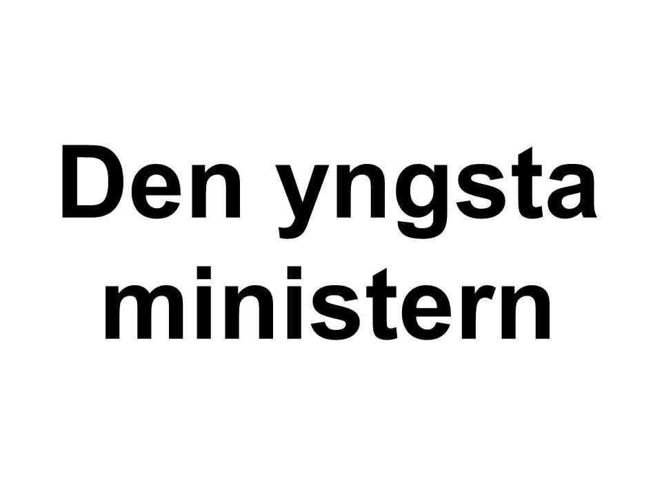 Den yngsta ministern