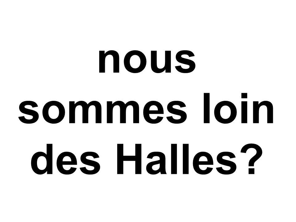 nous sommes loin des Halles?