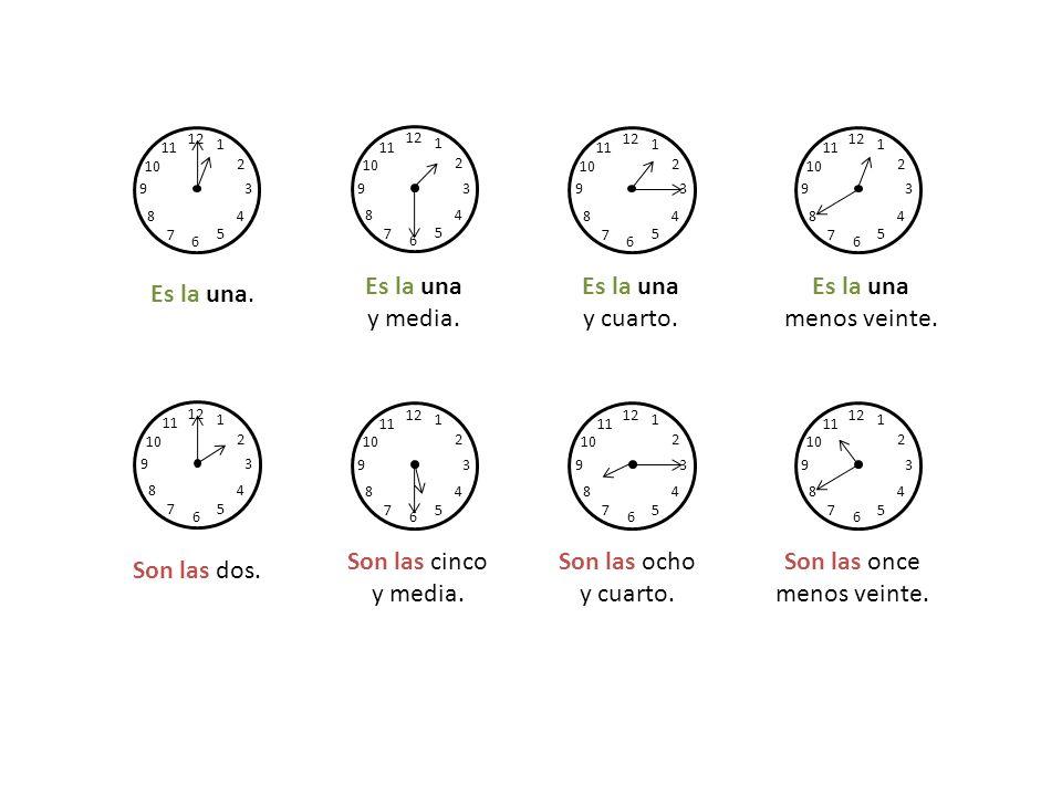 Hur mycket är klockan.¿Qué hora es. Klockan är tre.