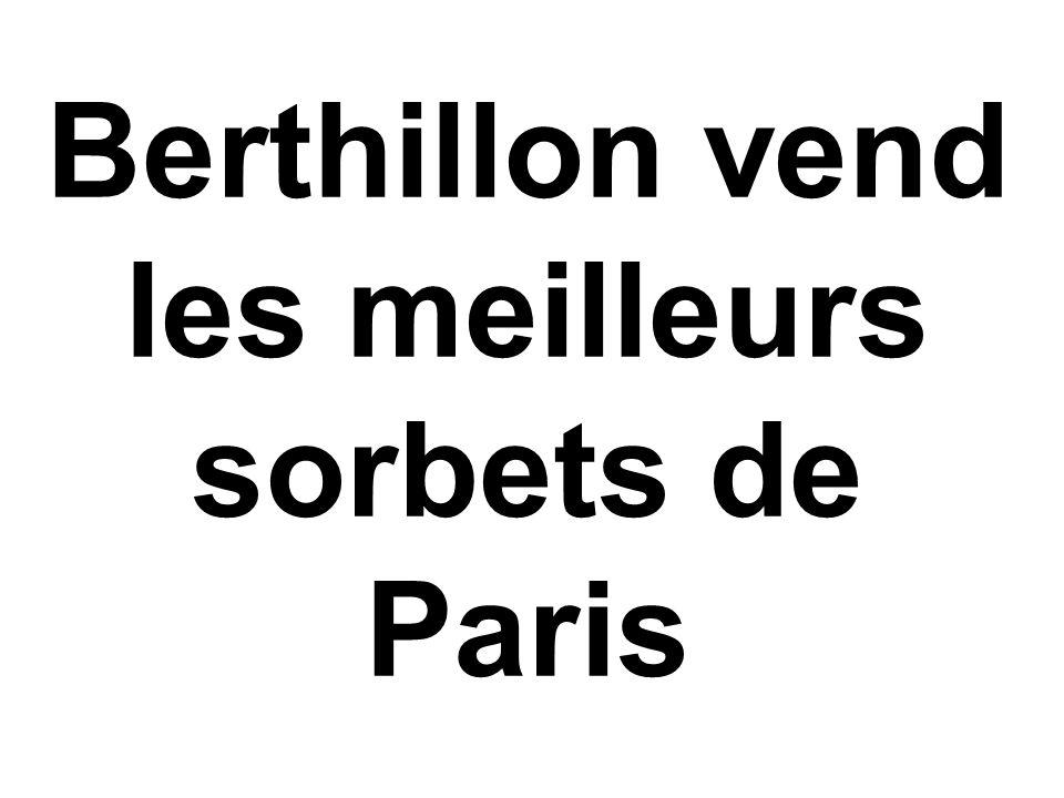 Berthillon vend les meilleurs sorbets de Paris