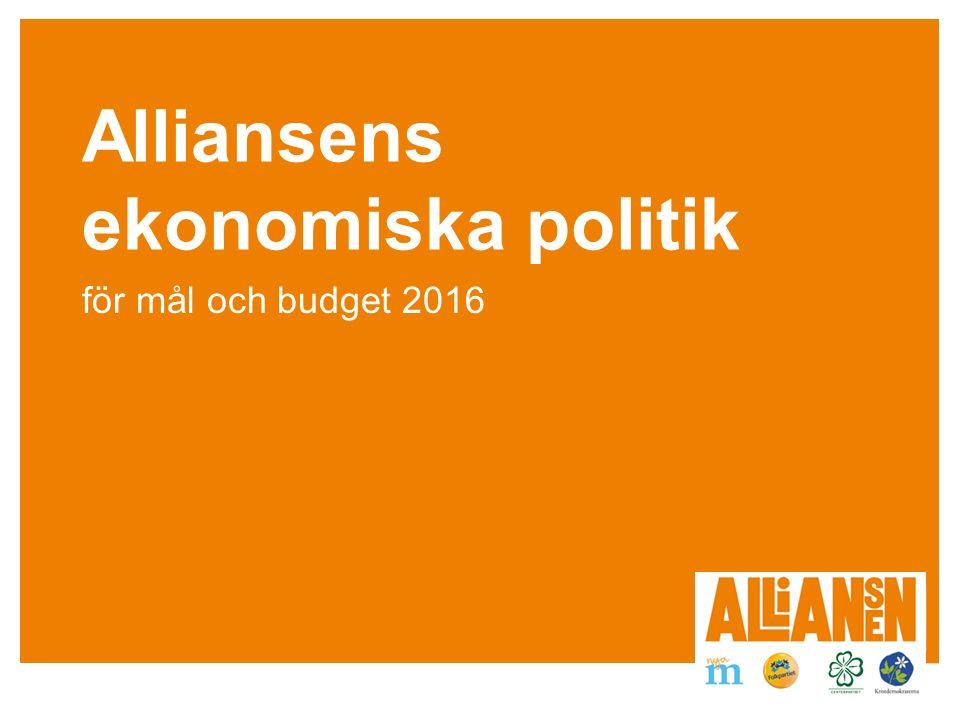 Alliansens ekonomiska politik för mål och budget 2016