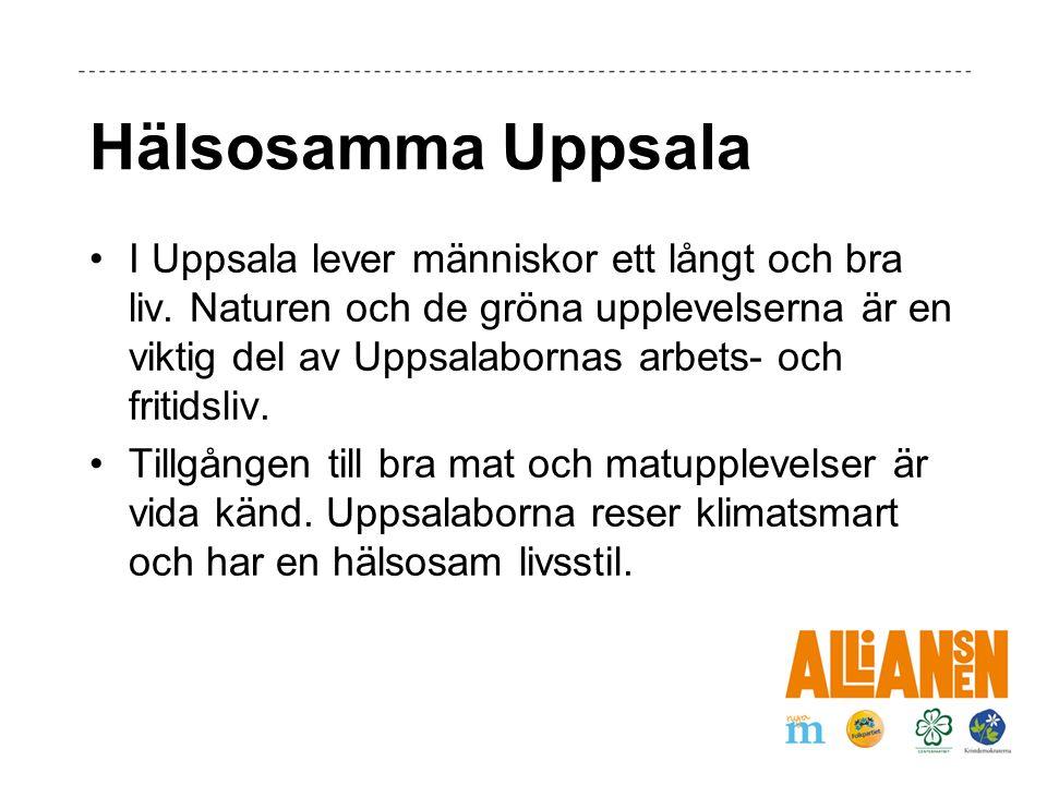 Hälsosamma Uppsala I Uppsala lever människor ett långt och bra liv.