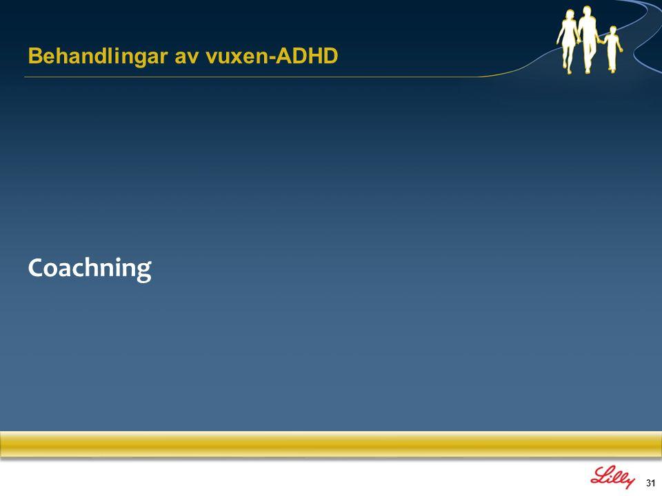 31 Behandlingar av vuxen-ADHD Coachning