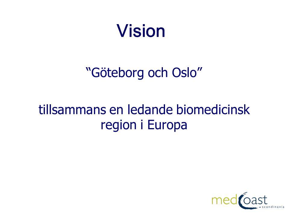 Vision Göteborg och Oslo tillsammans en ledande biomedicinsk region i Europa