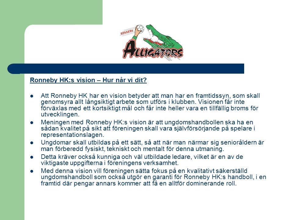 Ronneby HK:s vision – Hur når vi dit.