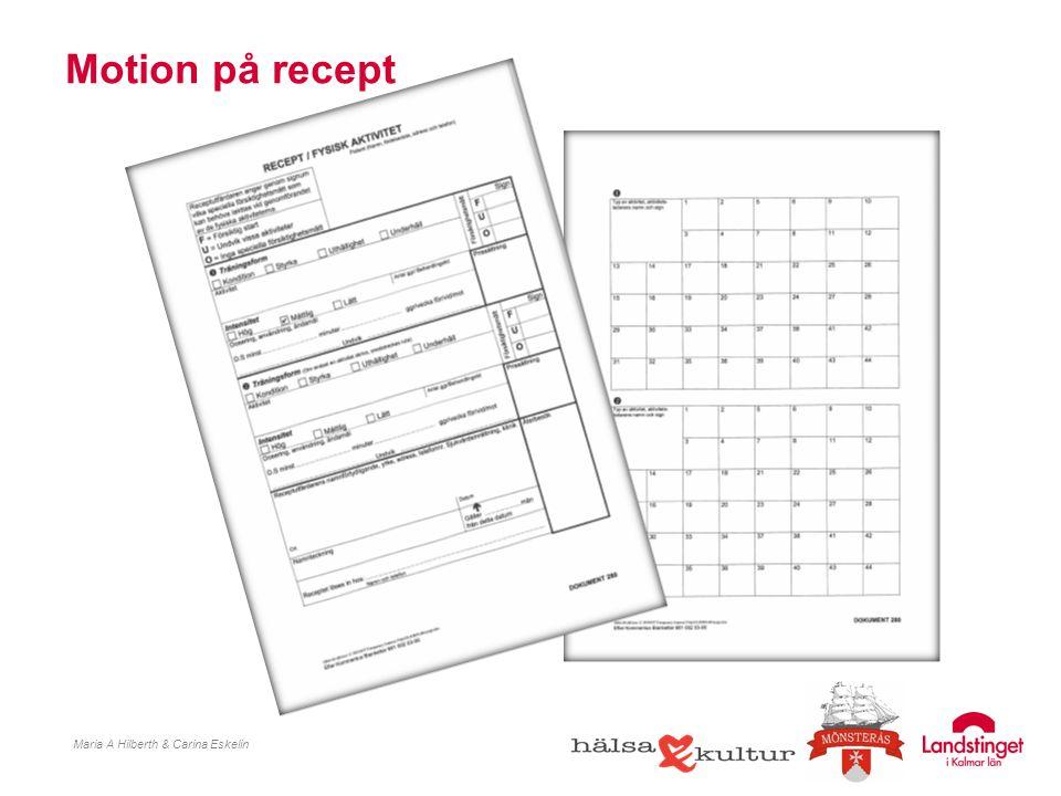 Motion på recept Maria A Hilberth & Carina Eskelin
