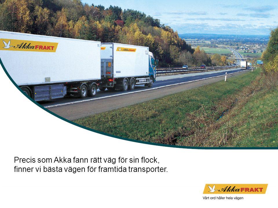 Precis som Akka fann rätt väg för sin flock, finner vi bästa vägen för framtida transporter.