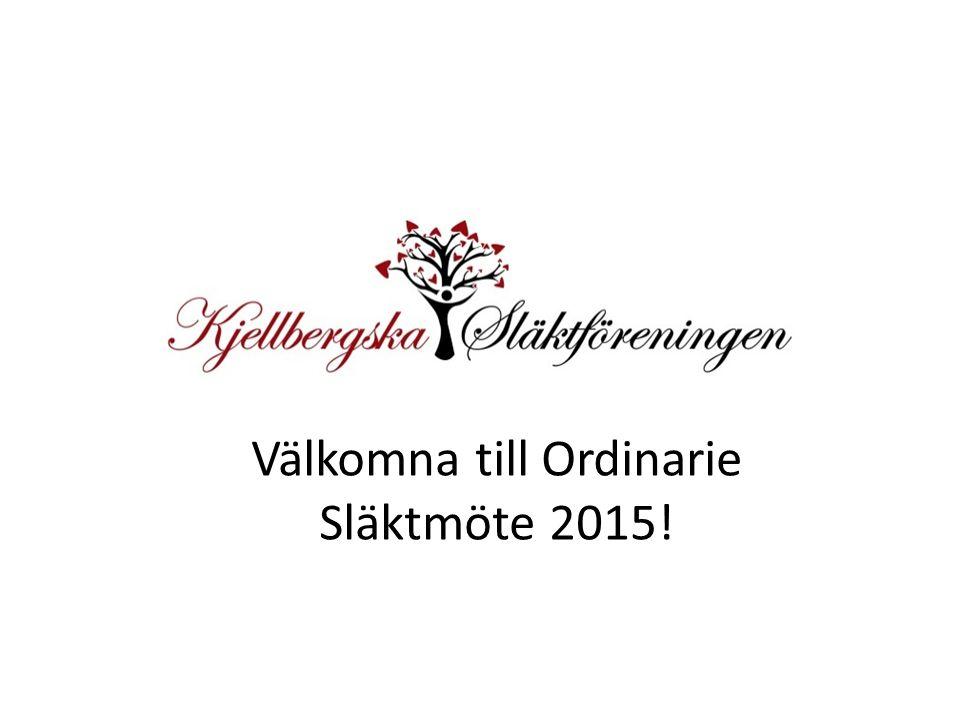 Välkomna till Ordinarie Släktmöte 2015!