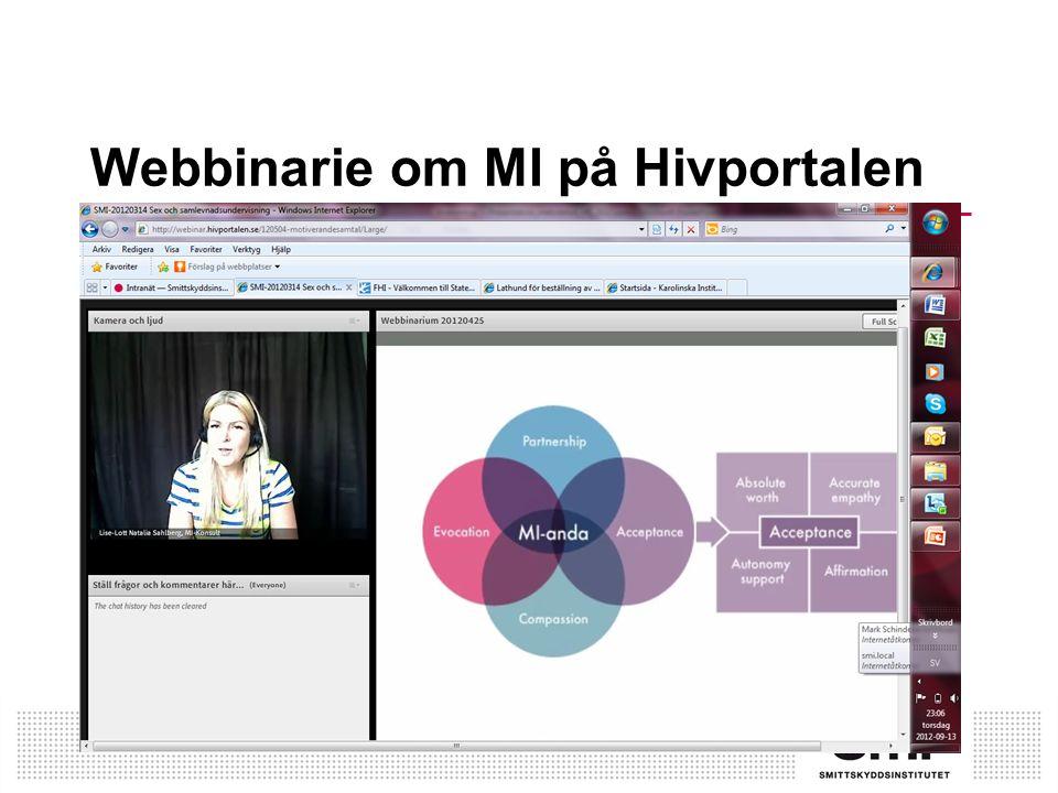 Webbinarie om MI på Hivportalen
