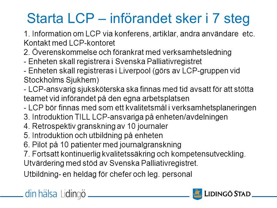Starta LCP – införandet sker i 7 steg 1.