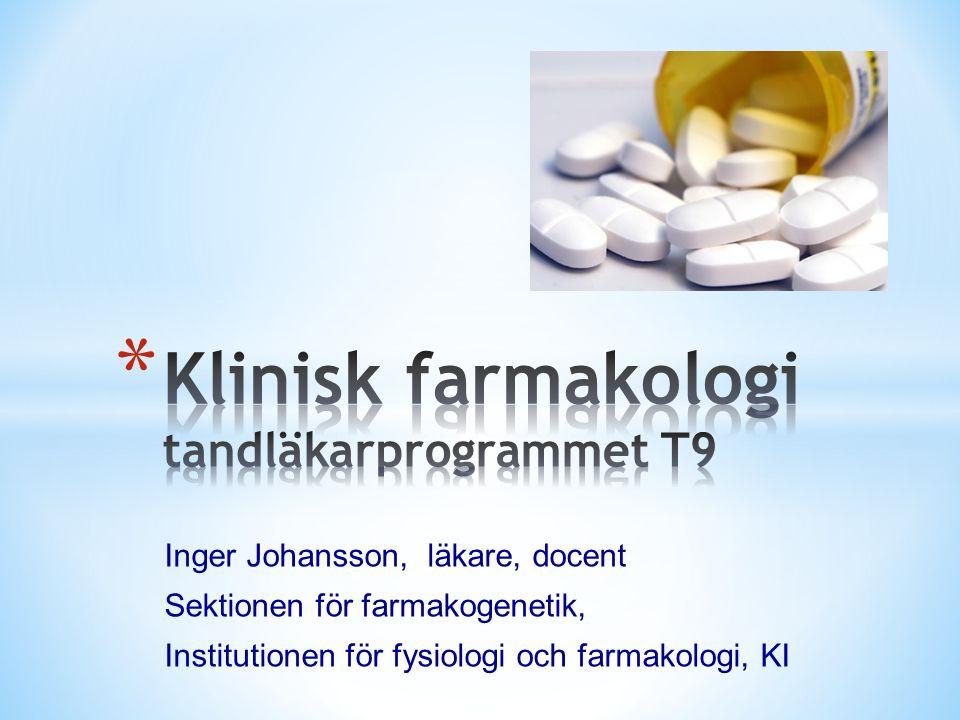 Inger Johansson, läkare, docent Sektionen för farmakogenetik, Institutionen för fysiologi och farmakologi, KI