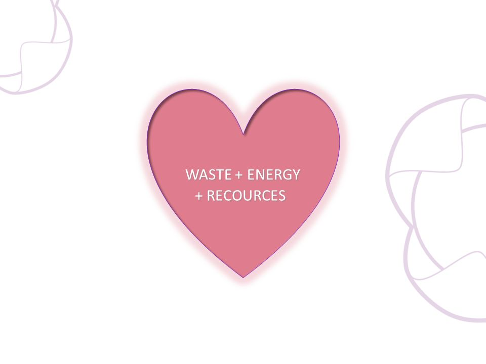 WASTE + ENERGY + RECOURCES