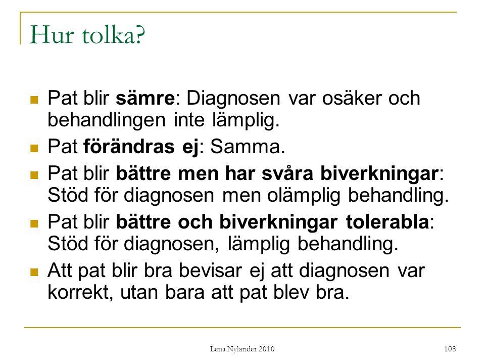 Lena Nylander 2010 108 Hur tolka.
