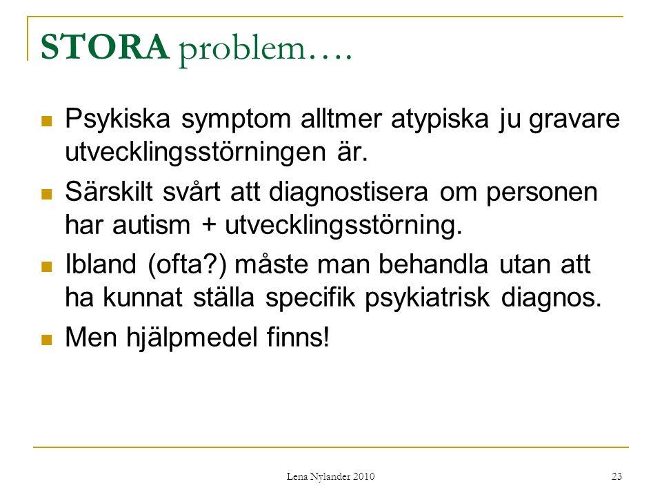 Lena Nylander 2010 23 STORA problem….