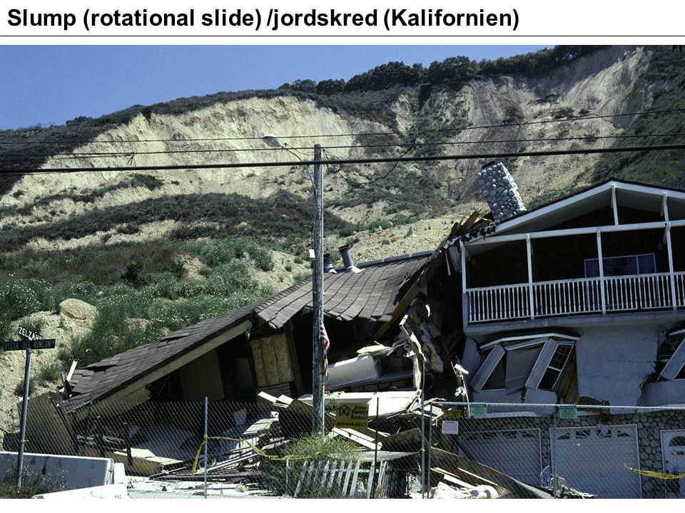 Slump (rotational slide) /jordskred (Kalifornien)