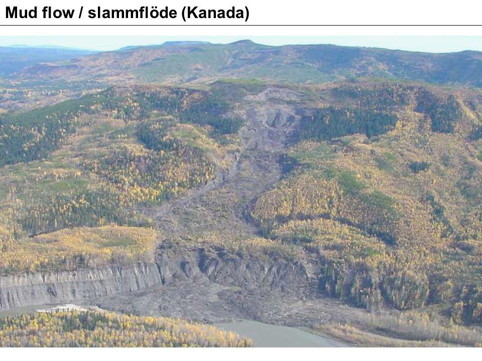 Mud flow / slammflöde (Kanada)