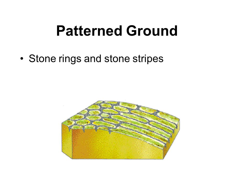 Patterned Ground Stone rings and stone stripes