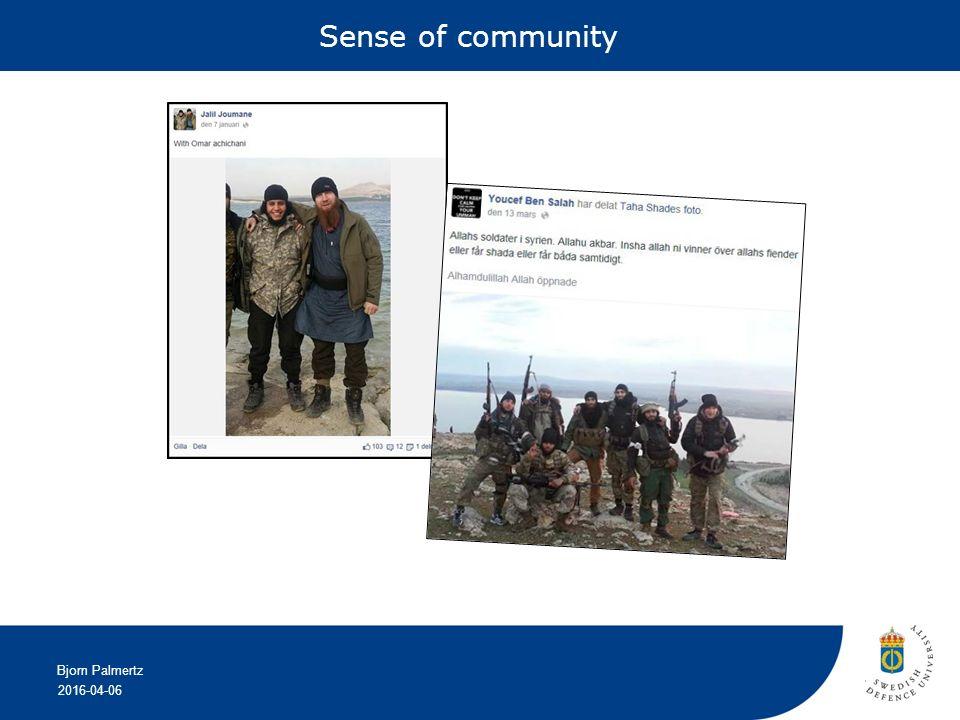 2016-04-06 Bjorn Palmertz Sense of community