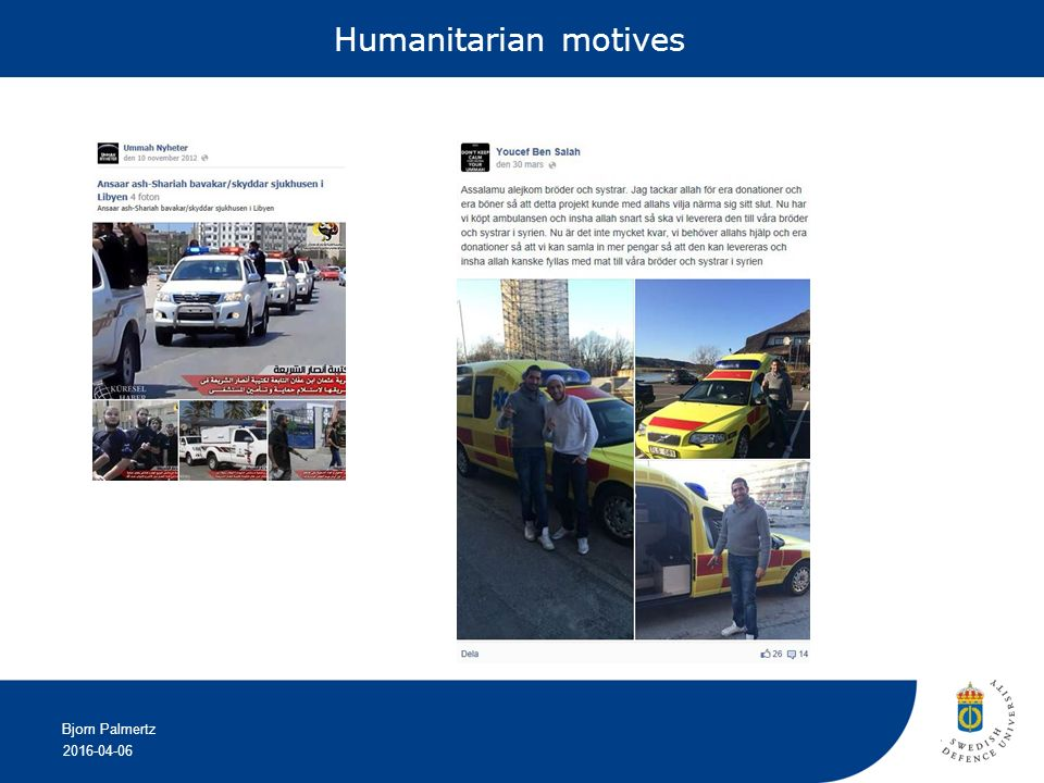 2016-04-06 Bjorn Palmertz Humanitarian motives