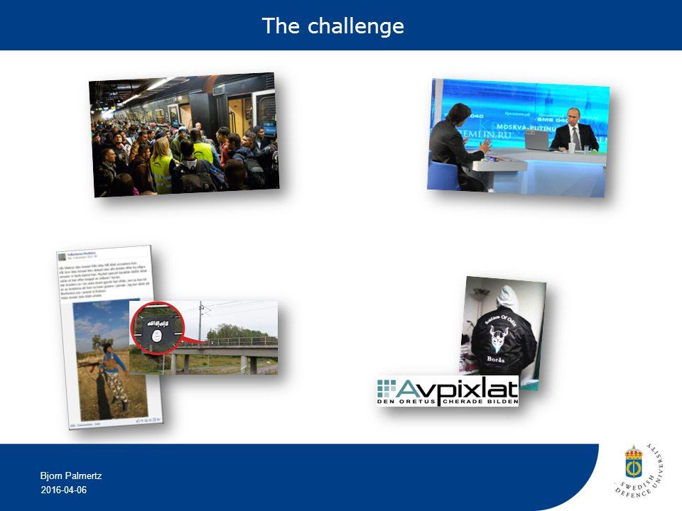 2016-04-06 Bjorn Palmertz The challenge