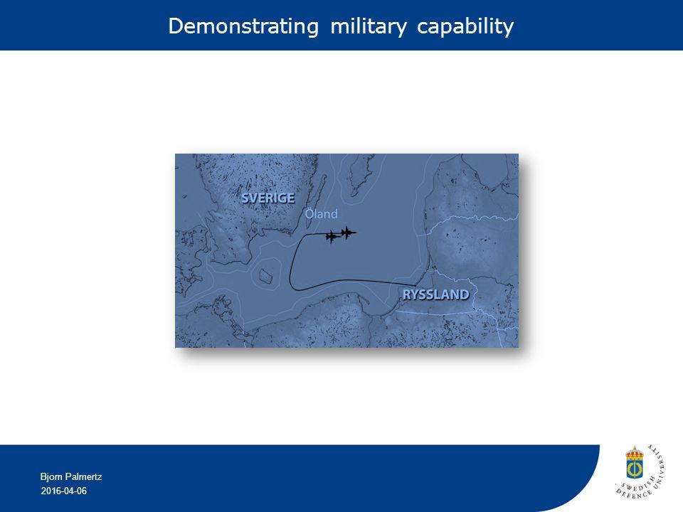 2016-04-06 Bjorn Palmertz Demonstrating military capability
