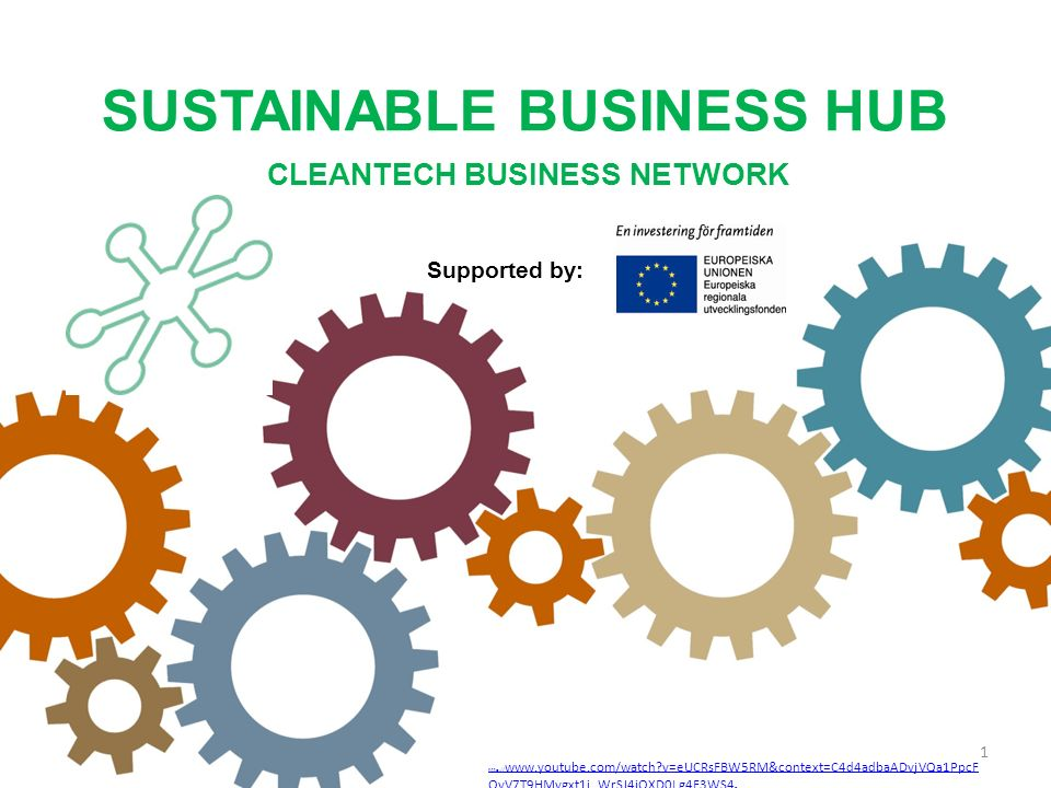 Sustainable Business Hub Owned by the Members Non-profit organisation Finansed by:<1/3 Region Skåne <1/3 EU >1/3 Privat sources Overall target: Contribute to a expanding Cleantech-industry Focus on established Companies expansion (exports) Largest CleanTech organisation in Sweden >100 export oriented CleanTech Companies Part financed by the European Union European Regional Development Fund