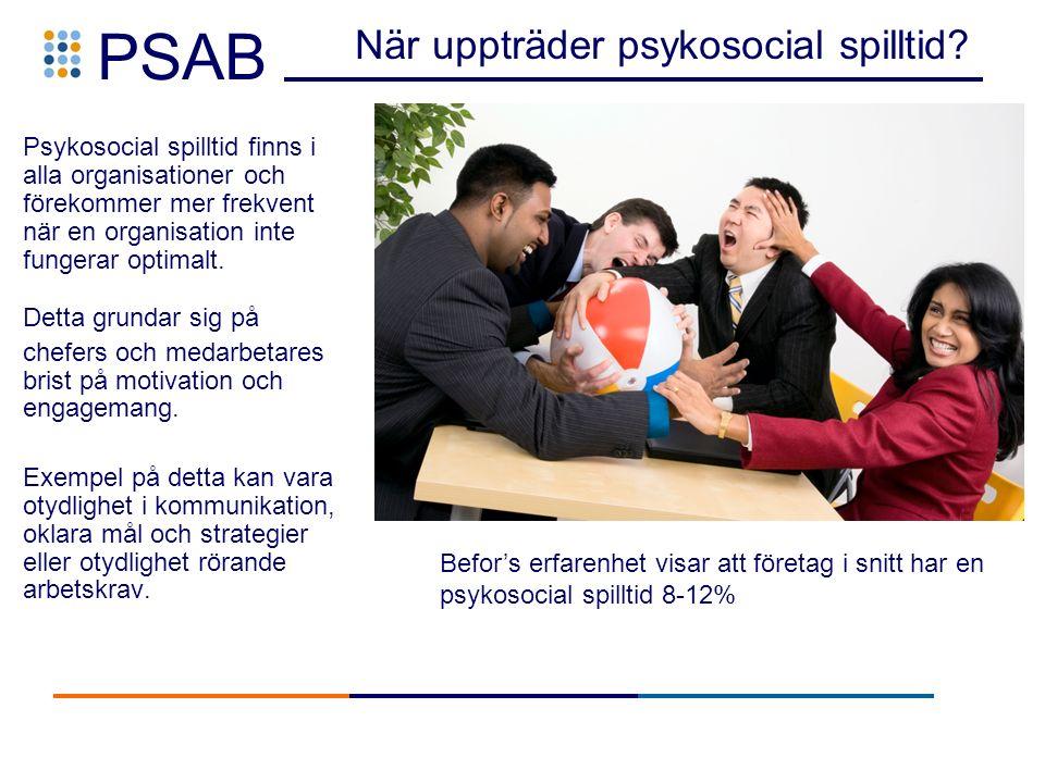 PSAB När uppträder psykosocial spilltid.