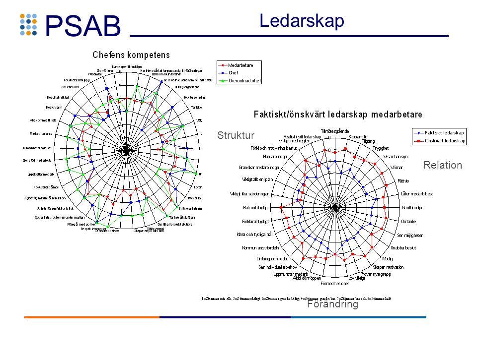 PSAB Relation Förändring Struktur Ledarskap