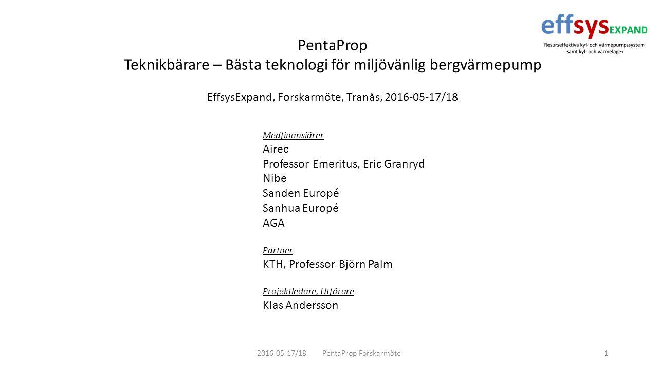 2016-05-17/18 PentaProp Forskarmöte22 Testrigg version 1