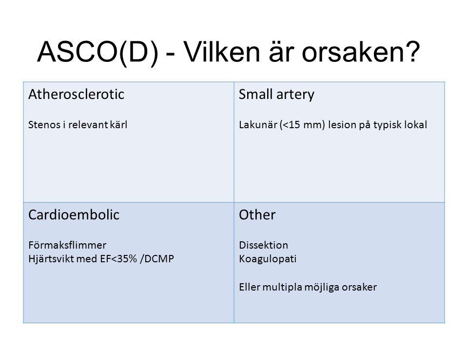 ASCO(D) - Vilken är orsaken.