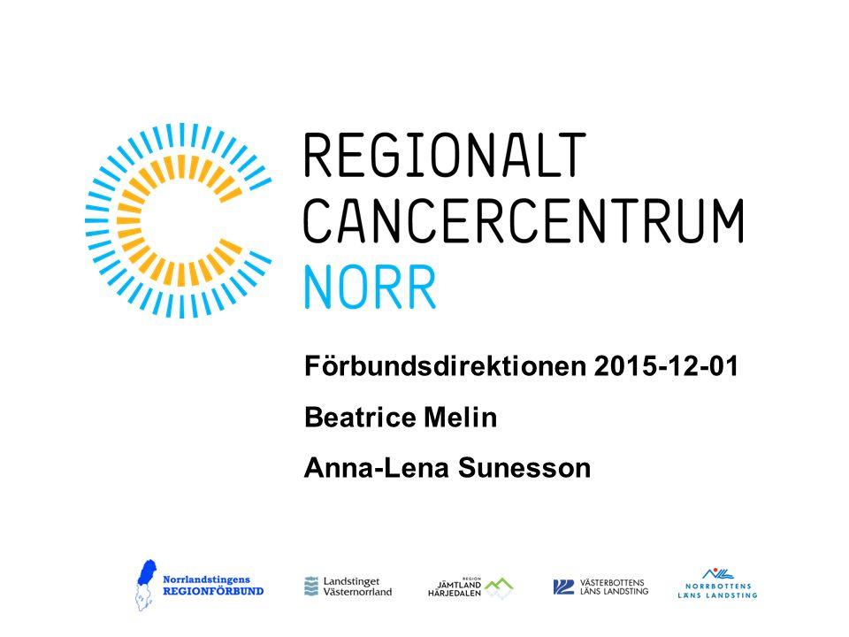 Förbundsdirektionen 2015-12-01 Beatrice Melin Anna-Lena Sunesson