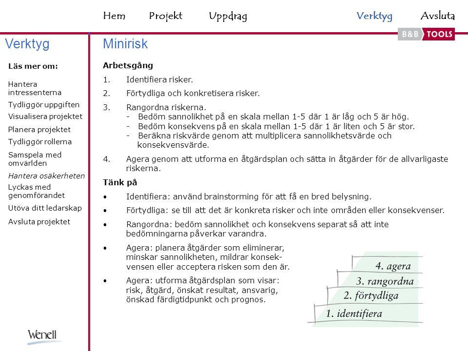 HemAvsluta Minirisk Arbetsgång 1.Identifiera risker.