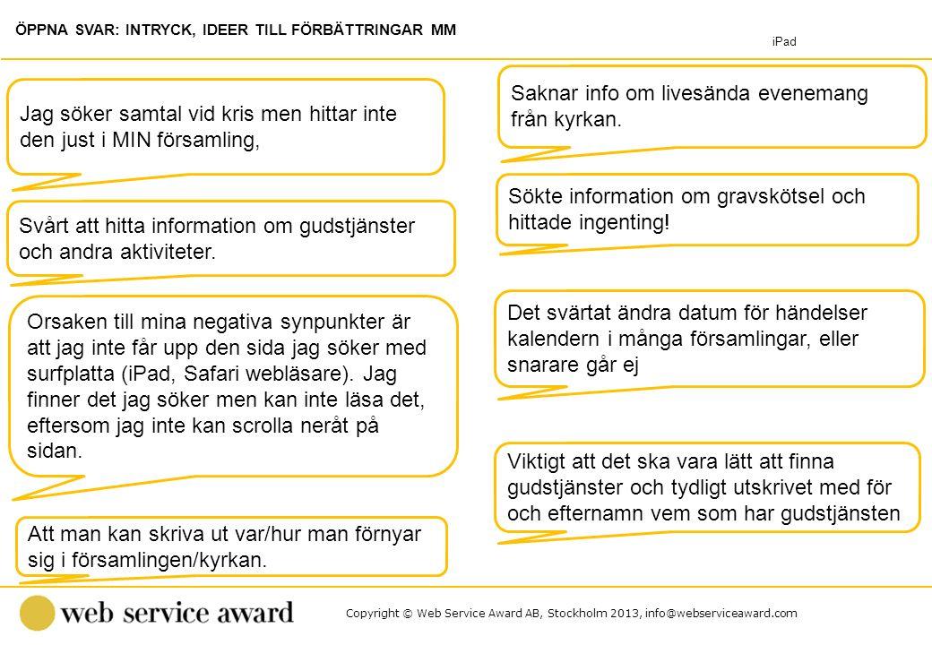 Copyright © Web Service Award AB, Stockholm 2013, info@webserviceaward.com Sökte information om gravskötsel och hittade ingenting! Jag söker samtal vi