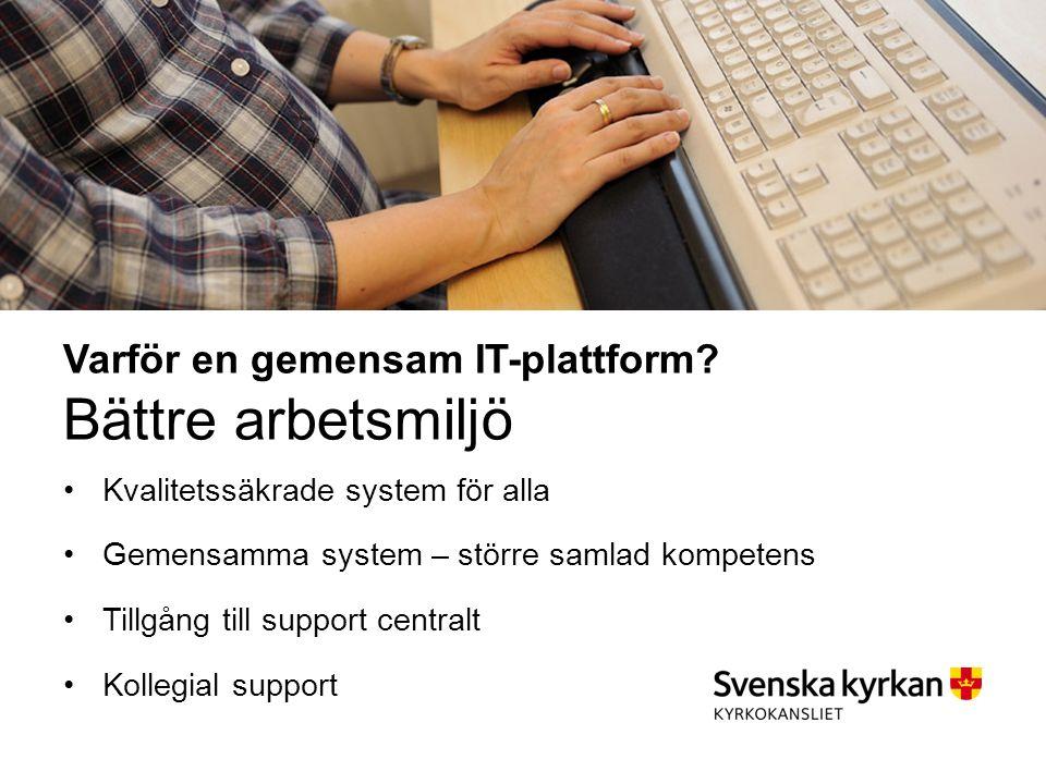 Varför en gemensam IT-plattform.