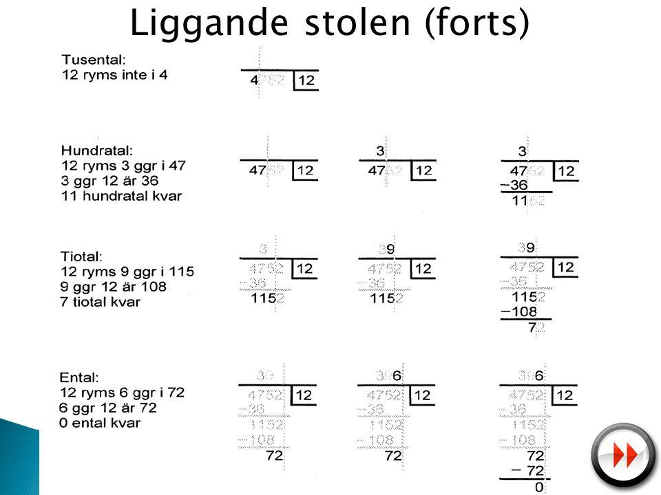 Liggande stolen (forts)