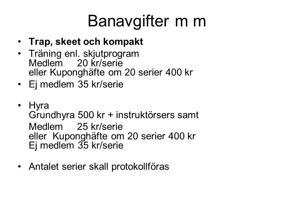 Banavgifter m m Hyra klubbhuset Stugan rymmer 150 personer Medlem 600 kr per dag eller kväll Ej medlem 900 kr per dag eller kväll