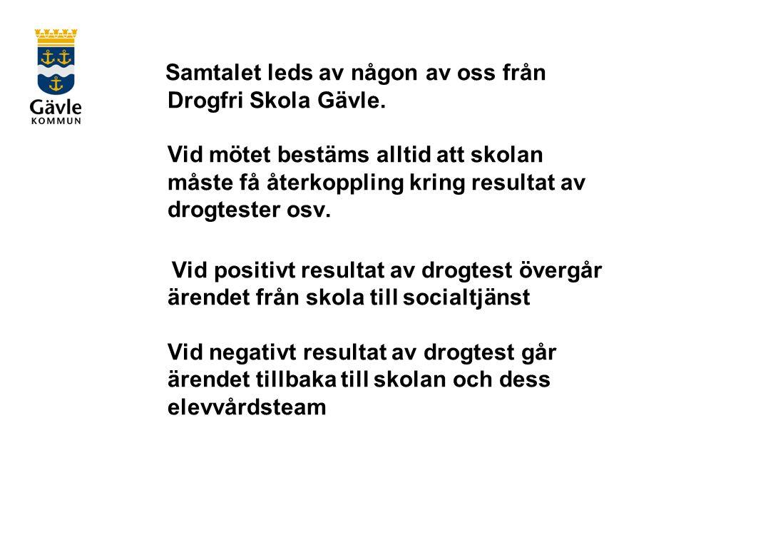 Samtalet leds av någon av oss från Drogfri Skola Gävle.