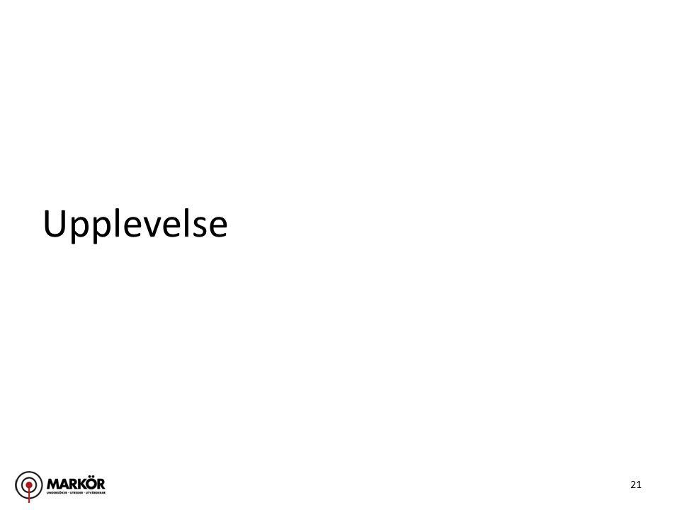 21 Upplevelse